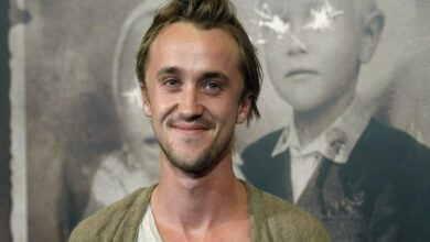 Photo of Tom Felton jokes Harry Potter was in love with Draco Malfoy