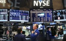 US stocks end lower as tech, financial shares fall
