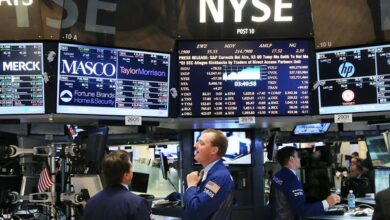 Photo of US stocks end lower on tech sector weakness