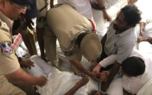 Police break Bhatti vikramarka hunger strike