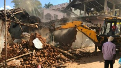 Photo of 82 buildings in six zones razed; drive to continue for next few days