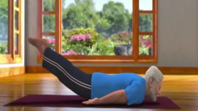 Photo of PM Modi posts another yoga video