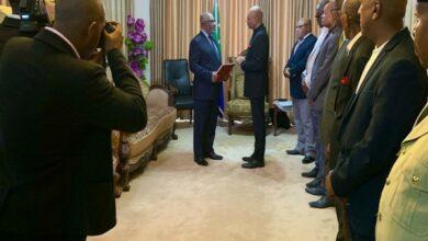 Photo of Ambassador of India to Madagascar presents his credentials to President of Comoros