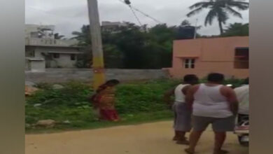 Photo of K'taka: Woman tied to pole, harassed; 7 arrested