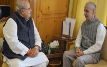 Dineshwar Sharma meets J-K Governor to discuss internal security situation, Amarnath Yatra arrangements