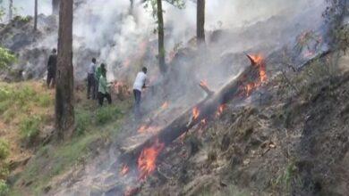 Photo of J-K: Fire breaks out in Rajouri's Sunderbani range