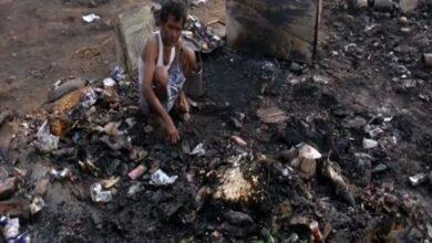 Photo of Jammu: Massive fire razes shanties of labourers, Rohingyas