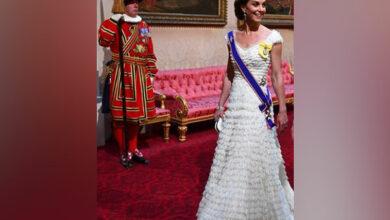 Photo of Kate Middleton rocks favourite tiara for state dinner at Buckingham Palace