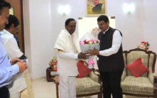 KCR invites Maharashtra CM Devendra Fadnavis for Kaleshwaram Project launch