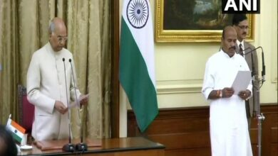 Photo of Virendra Kumar sworn in as Protem Speaker of Lok Sabha