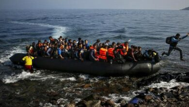 Photo of 2 bodies retrieved from boat off Libya's coast; 73 migrants rescued