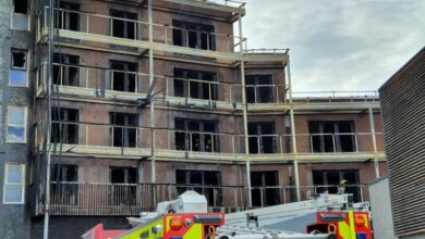Photo of No casualties reported in fire at East London flats