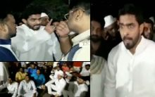 MIM Corporator Protest at Banjara hills Police station