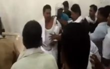 Party meeting turns ugly, workers hurl chairs, assault senior leader