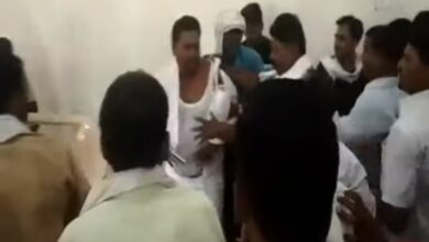 Photo of Party meeting turns ugly, workers hurl chairs, assault senior leader