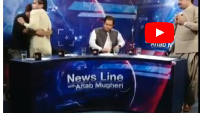 Photo of Pakistani politician, journalist have fight during live news debate