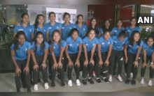 New Delhi: Triumphant Indian women's hockey team returns after winning FIH finals