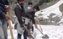 Clearance of snow in full swing ahead of Amarnath Yatra