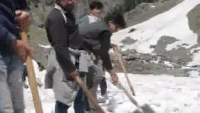 Photo of Clearance of snow in full swing ahead of Amarnath Yatra