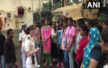 30 students visit USS John Murtha from Vizag