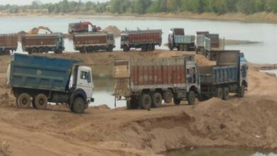Photo of Hyderabad: Five lorries used by illegal sand miners seized