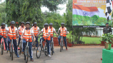 "Photo of Cycle Expedition as part of ""Year of Next of Kin"" flagged off"