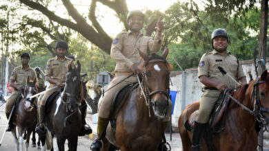 Photo of Mounted Police seen Patrolling