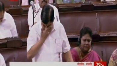 Photo of AIADMK MP V Maitreyan breaks down during farewell speech in RS