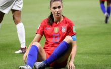 Wanted to keep it interesting, says Alex Morgan on tea-drinking celebration