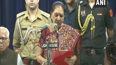 Photo of Anandiben Patel takes oath as UP Governor