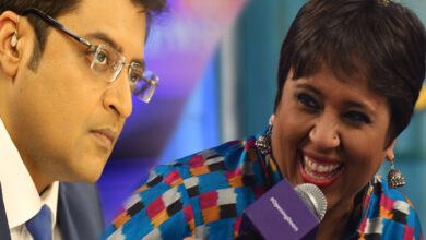 Photo of Arnab schooling Barkha on Live TV, video goes viral