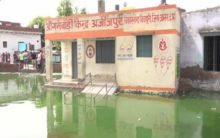 UP: Waterlogging forces schools to shut in Azizpur town