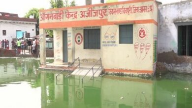 Photo of UP: Waterlogging forces schools to shut in Azizpur town