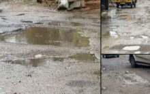 Hyderabad roads battered after two days of rain