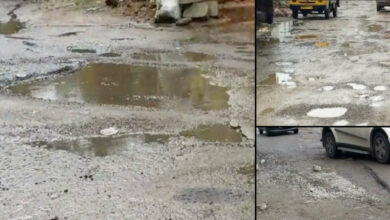 Photo of Hyderabad roads battered after two days of rain
