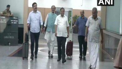 Photo of Karnataka BJP delegation arrives in New Delhi to meet Amit Shah
