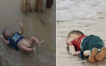 Disturbing image of toddler from Bihar reminds of Syrian child