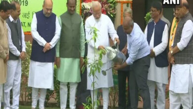 Photo of Modi plants saplings in Parliament as part of plantation drive