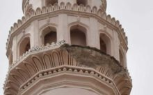 Charminar, the pride and glory of Hyderabad fights a losing battle with natural elements