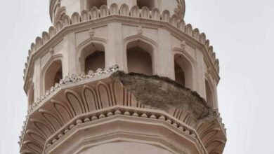 Photo of Charminar, the pride and glory of Hyderabad fights a losing battle with natural elements