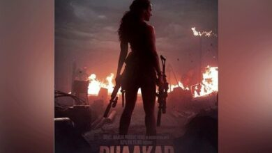 Photo of Kangana reveals her fierce side in 'Dhaakad'