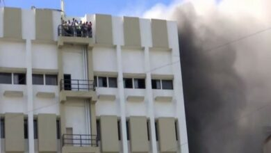 Photo of 100 feared trapped after massive fire engulfed  MTNL building