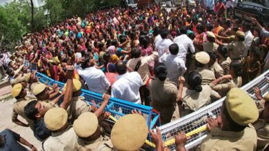 Photo of Aanganwadi teachers protest infront of District Collector office in Hyderabad