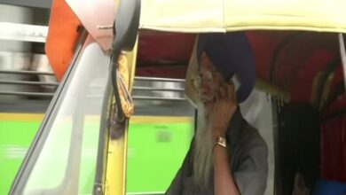 """Photo of Harjinder Singh, the 76-year-old who runs an """"auto ambulance"""" in Delhi"""