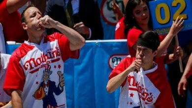 Photo of Joey 'Jaws' Chestnut wins Nathan's Hot Dog eating contest