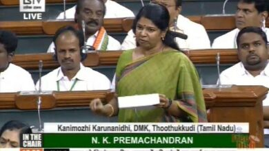 Photo of Kanimozhi accuses Centre of naming schemes only in Hindi