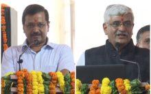 Shekhawat, Kejriwal lay foundation stone for sewage treatment plant in Okhla