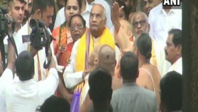 Photo of President offers prayers at Sri Vekateswara Swamy Temple in AP