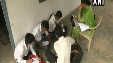 Photo of Students forced to study outside as EVMs locked in classrooms