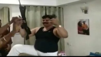 Photo of Video: Suspended BJP MLA dances with automatic rifle, guns